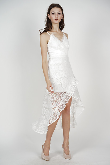 Orianna Lace Dress in White - Arriving Soon