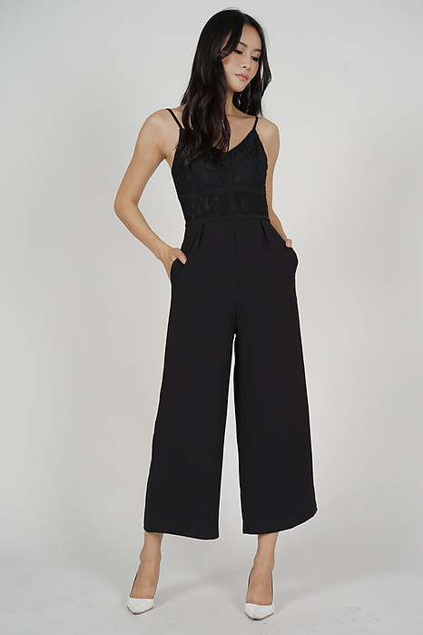 Yerin Lace Jumpsuit in Black