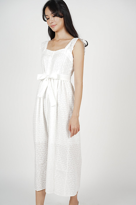 Taissa Crochet Dress in White - Online Exclusive