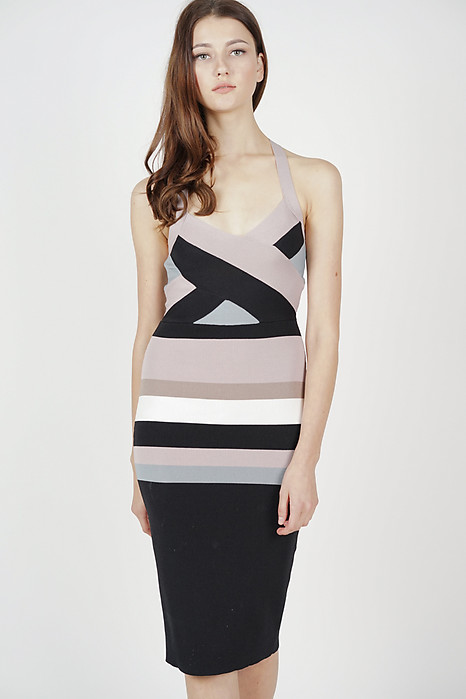 Vanni Contrast Dress in Multi - Arriving Soon