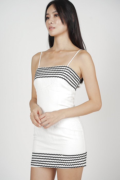 Solla Mini Dress in White - Arriving Soon