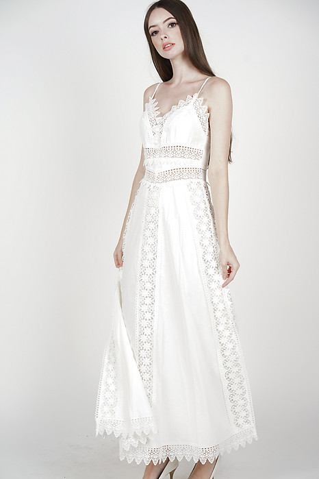 Margalo Crochet Dress in White - Arriving Soon