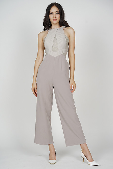 Ogden Halter Jumpsuit in Grey - Arriving Soon