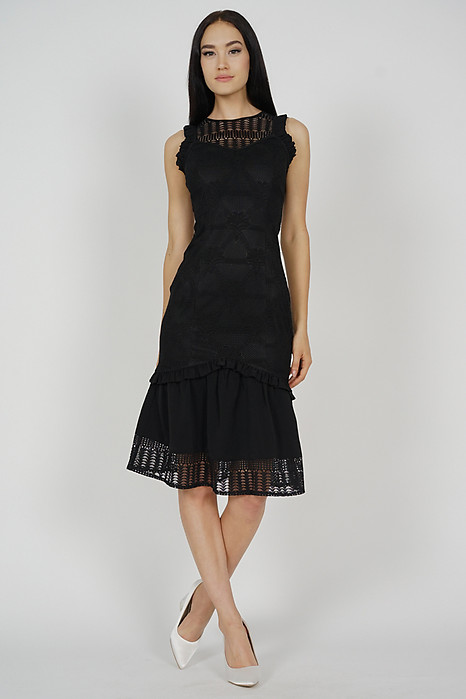 Charlotte Lace Dress in Black