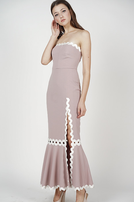 Naomi Tube Dress in Dusty Pink