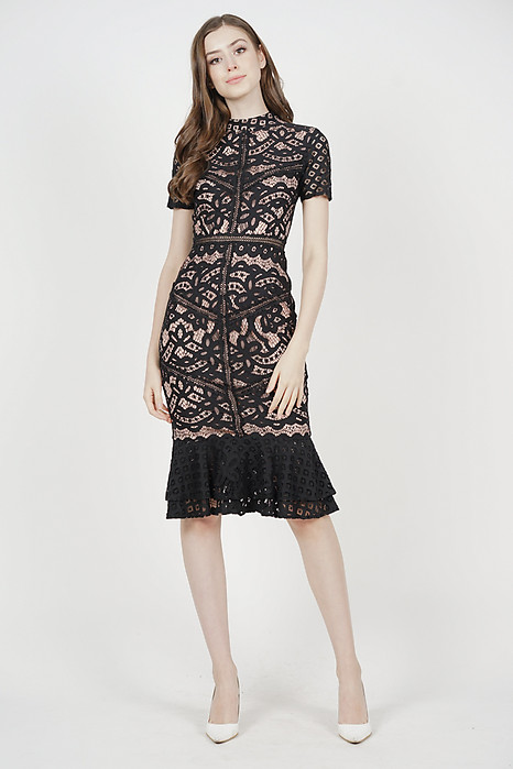 Tishya Lace Dress in Black