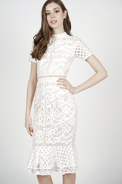 Tishya Lace Dress in White