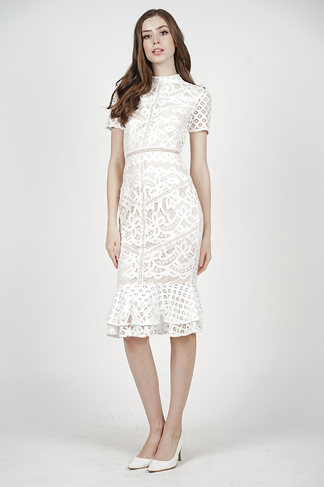 Tishya Lace Dress in White - Arriving Soon