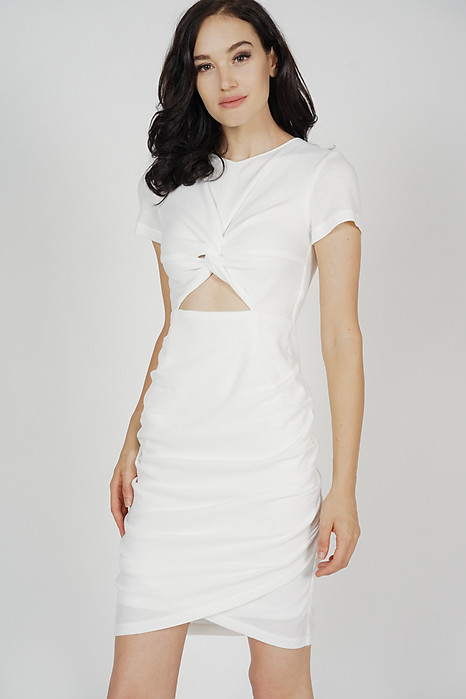 Kalea Knotted Dress in White