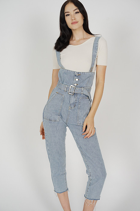 Sana Denim Overalls in Dark Blue - Online Exclusive