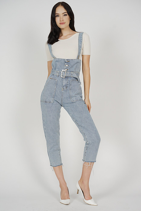 Sana Denim Overalls in Dark Blue - Arriving Soon