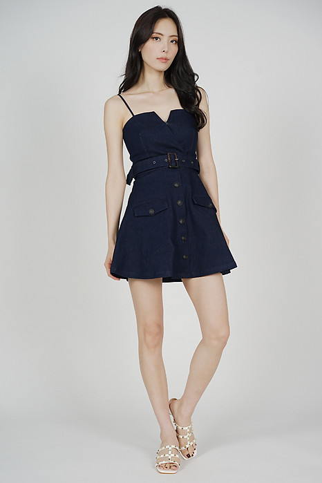 Ivrina Trench Dress in Dark Blue
