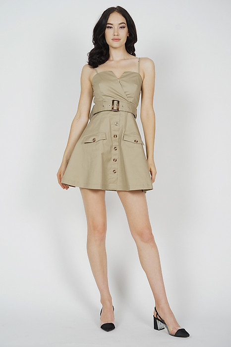 Ivrina Trench Dress in Khaki