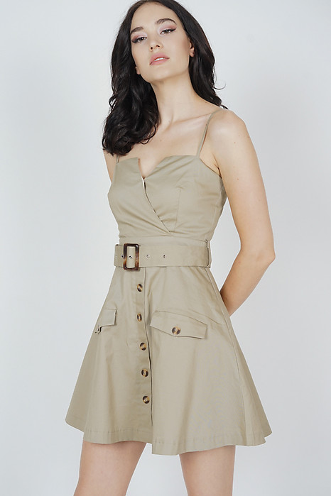 Ivrina Trench Dress in Khaki - Arriving Soon