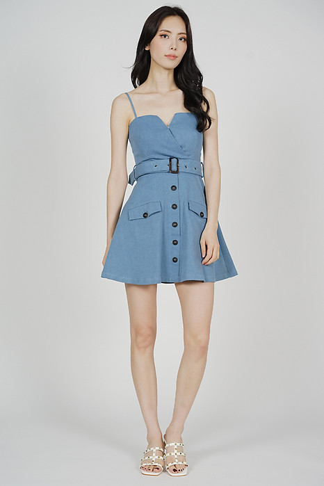 Ivrina Trench Dress in Light Blue - Arriving Soon