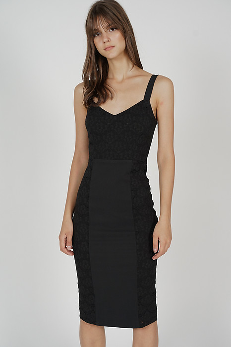 Eroda Lace Dress in Black