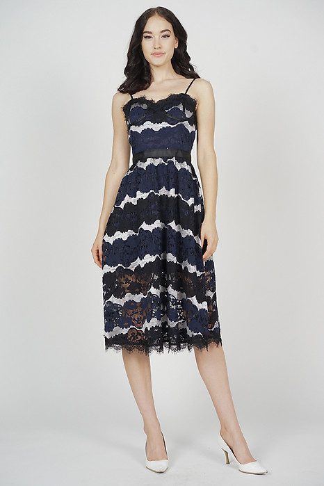Veron Lace Dress in Midnight
