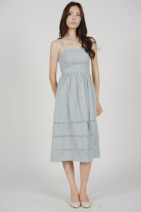 Miranda Cami Dress in Ash Blue