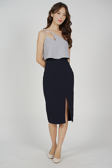 Kersie Toga Overlay Dress in Grey Midnight - Arriving Soon