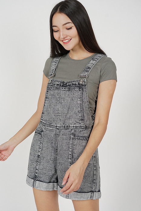 Waeryn Denim Overalls in Black - Online Exclusive