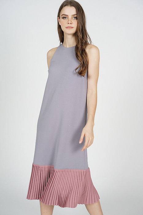 Chiara Pleated-Hem Dress in Lilac - Arriving Soon