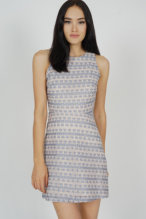 Tessie Dress in Ash Blue