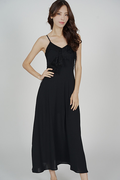Tristie Maxi Dress in Black