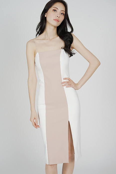 Marlin Contrast Dress in White