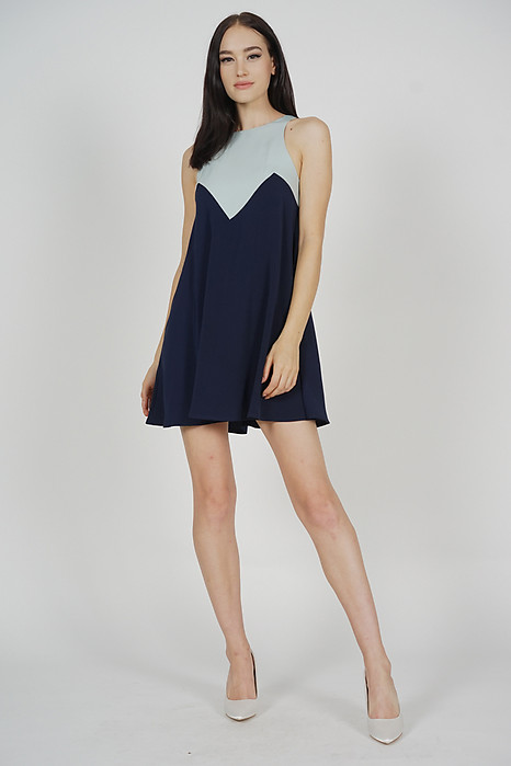 Karina Swing Dress in Ash Blue Midnight - Arriving Soon