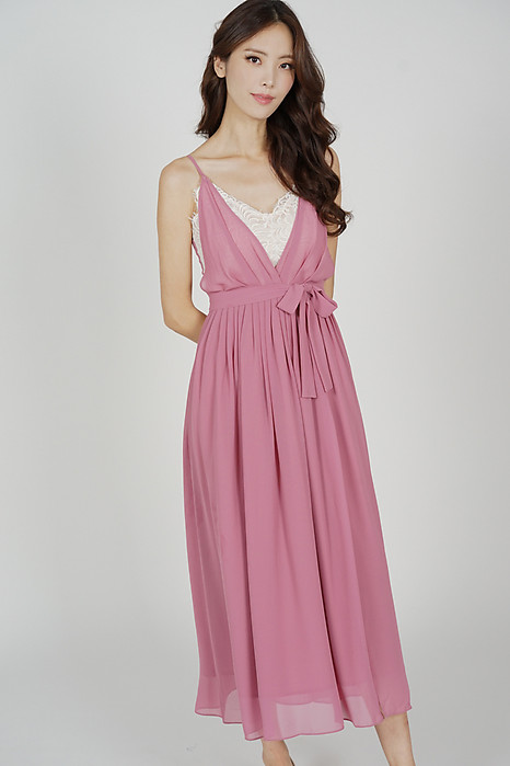 Aina Drape Dress in Pink - Arriving Soon