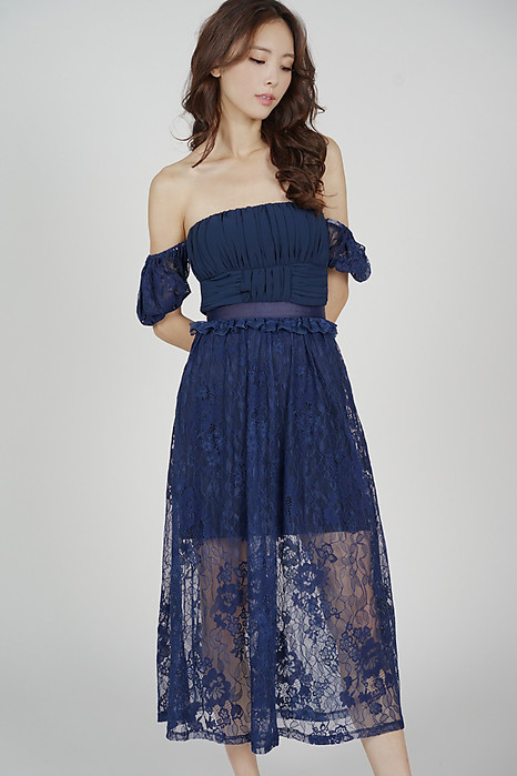 Cerise Lace Dress in Midnight - Arriving Soon