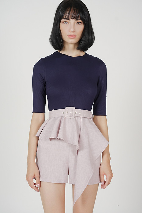 Jedda Contrast Peplum Romper in Midnight Pink - Arriving Soon