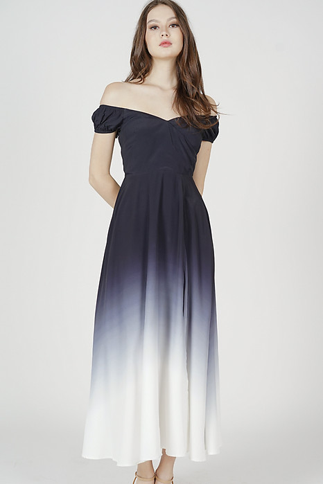 Beidra Ombre Maxi Dress in Black - Arriving Soon