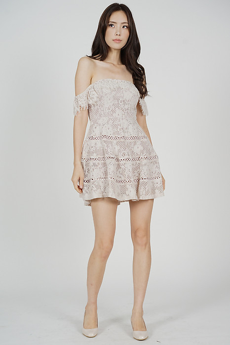 Maiko Lace Dress in Blush