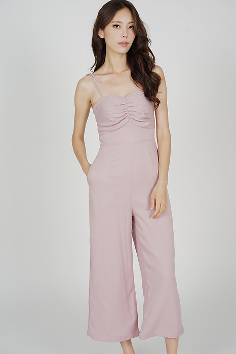 Telicia Gathered Front Jumpsuit in Pink - Arriving Soon