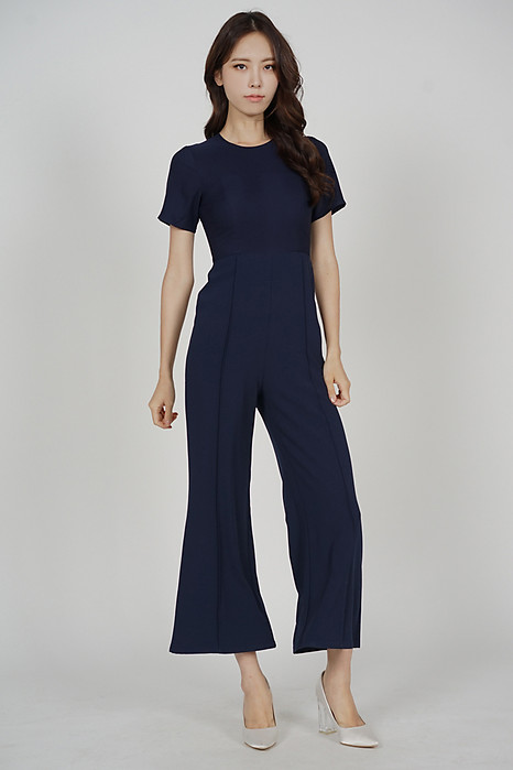 Calby Wide Leg Jumpsuit in Midnight - Arriving Soon