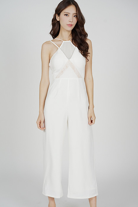 Bryna Halter Jumpsuit in White