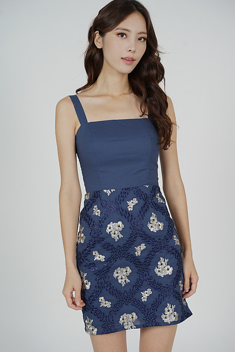 Veera Mini Dress in Blue - Arriving Soon
