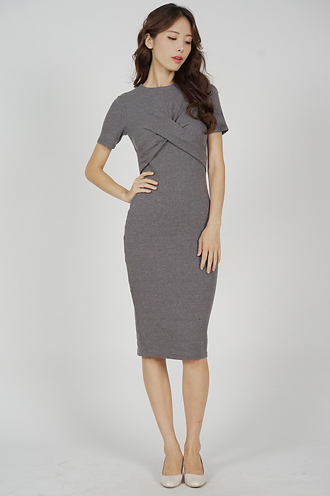 Lesner Criss Cross Dress in Grey