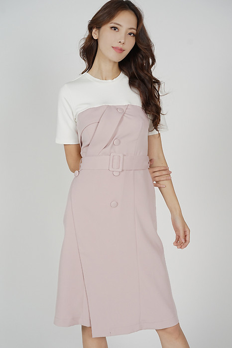 Miriza Contrast Dress in Pink