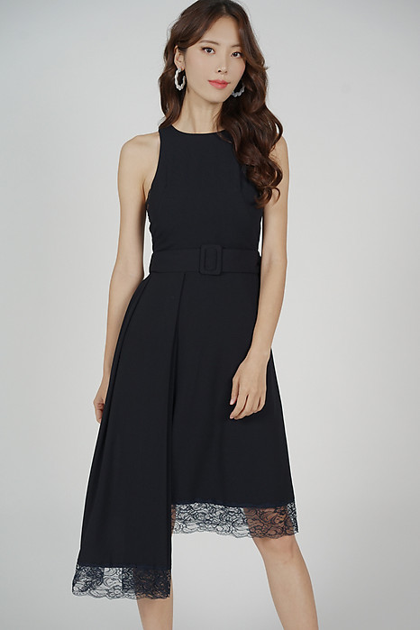 Alexei Asymmetrical Dress in Midnight - Arriving Soon