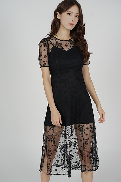 Johanna Lace Dress in Black - Arriving Soon