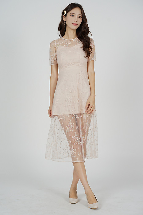Johanna Lace Dress in Nude - Arriving Soon
