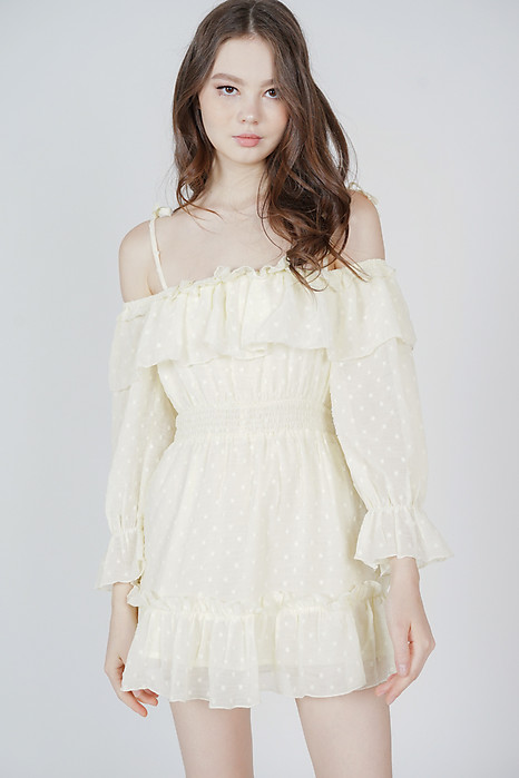 Jika Ruffled Dress in Yellow