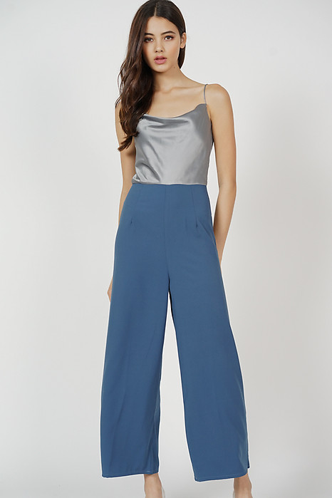Sukey Cami Jumpsuit in Silver