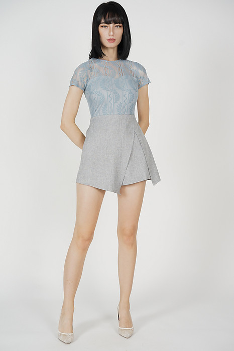 Melanie Mesh Romper in Ash Blue - Arriving Soon