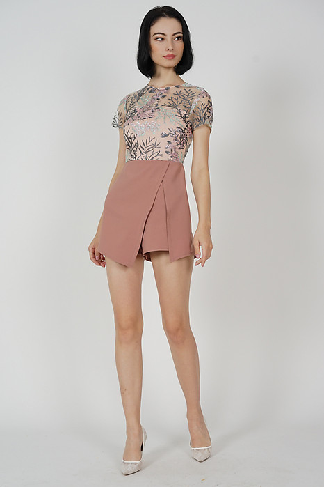Zarin Mesh Romper in Pink - Arriving Soon