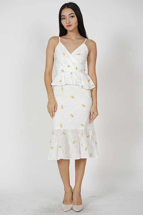 Marla Ruffled Dress in Yellow Floral - Arriving Soon