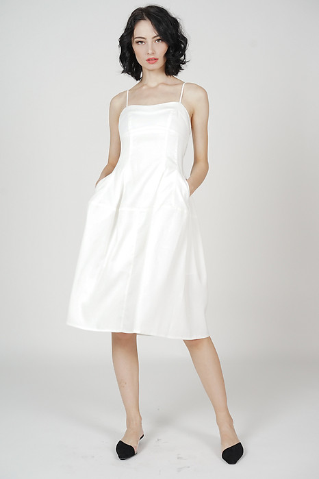 Livan Midi Dress in White - Arriving Soon