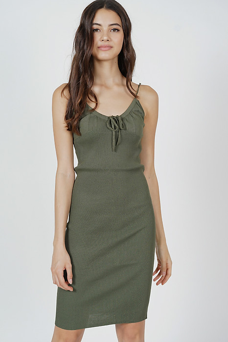 Johan Cami Dress in Dark Green - Arriving Soon